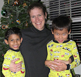 Melanie Springer Mock and her sons Samuel and Benjamin