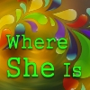 Where She Is Logo Block