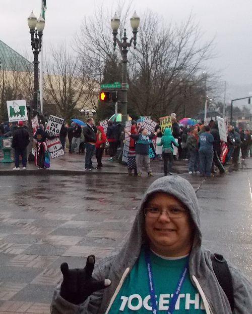 Criselda Marquez and Anti-LGBTQ Protesters