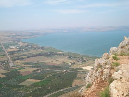 Sea of Galilee from the Cliffs of Arbol. Photo by Reta Finger