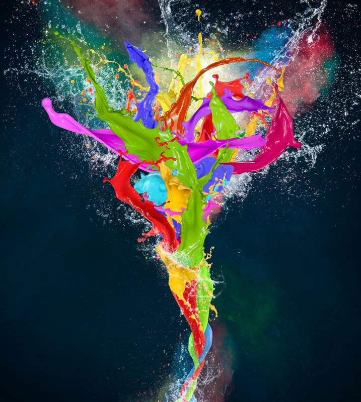 Colored Paint, Abstract Shapes by Lukas Gojda