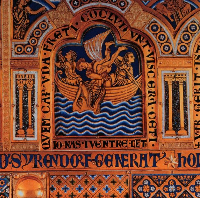 """Jonah in the whale detail Verdun altar"" by Goodness Shamrock - Own work. Licensed under Public Domain via Wikimedia Commons"