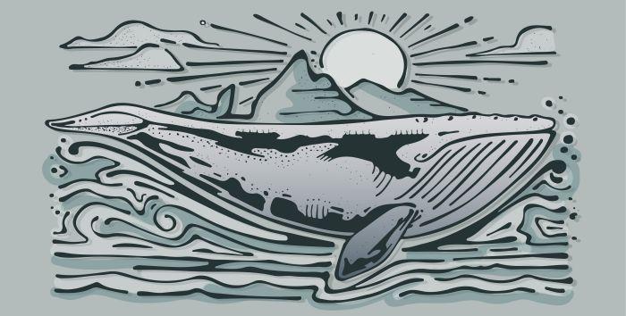 Whale Woodcut