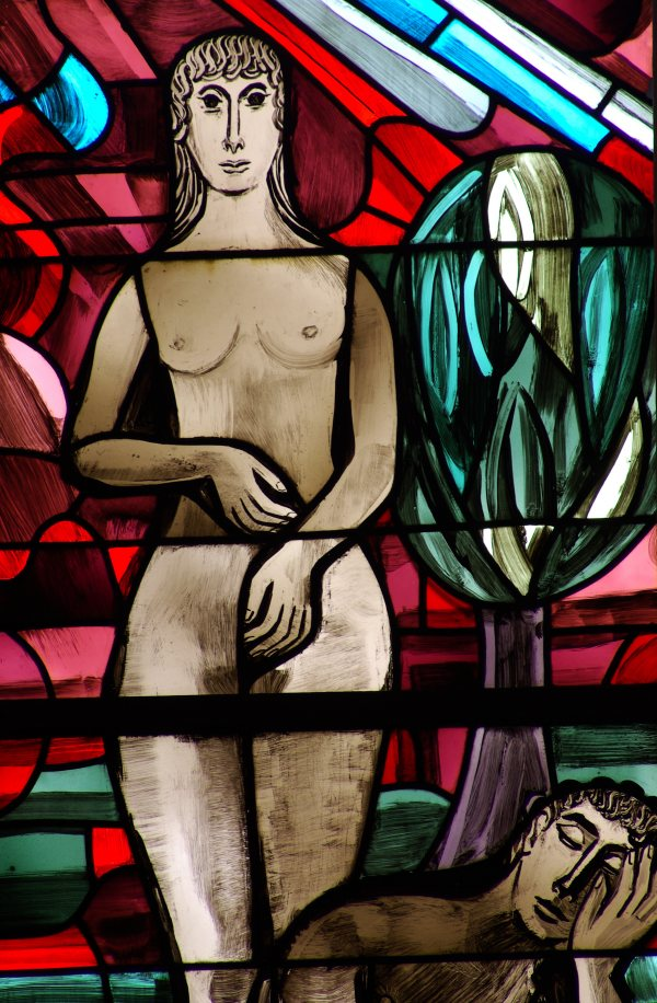 """The Creation of Eve"" Stained Glass Window - Photo by Howgill"