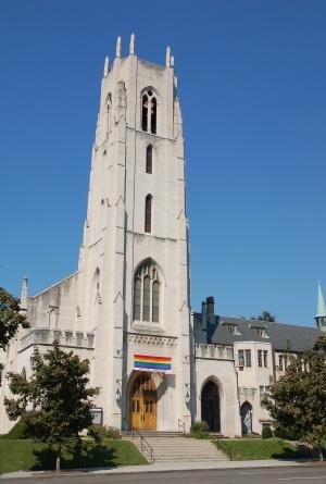"""""""Church Welcomes Gay"""" by icholakov, licensed through Dollar Photo Club."""